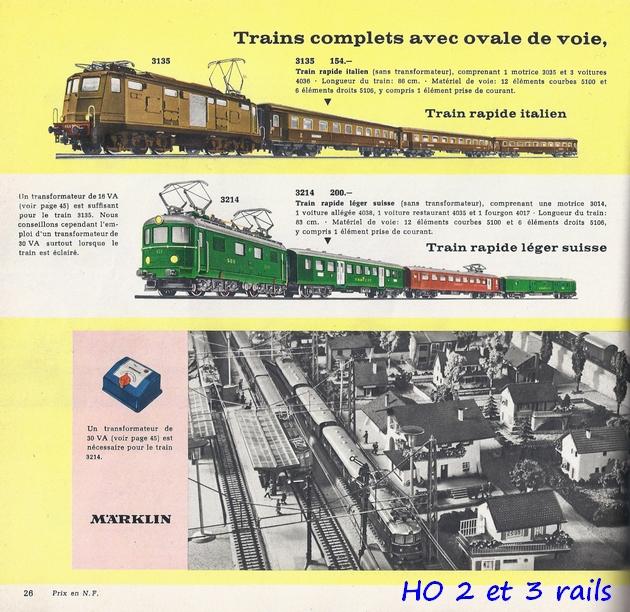 Coffrets Märklin 1936 - 1968 (rouges, noirs, verts ou bleus) 576501Marklincatalogue1962R