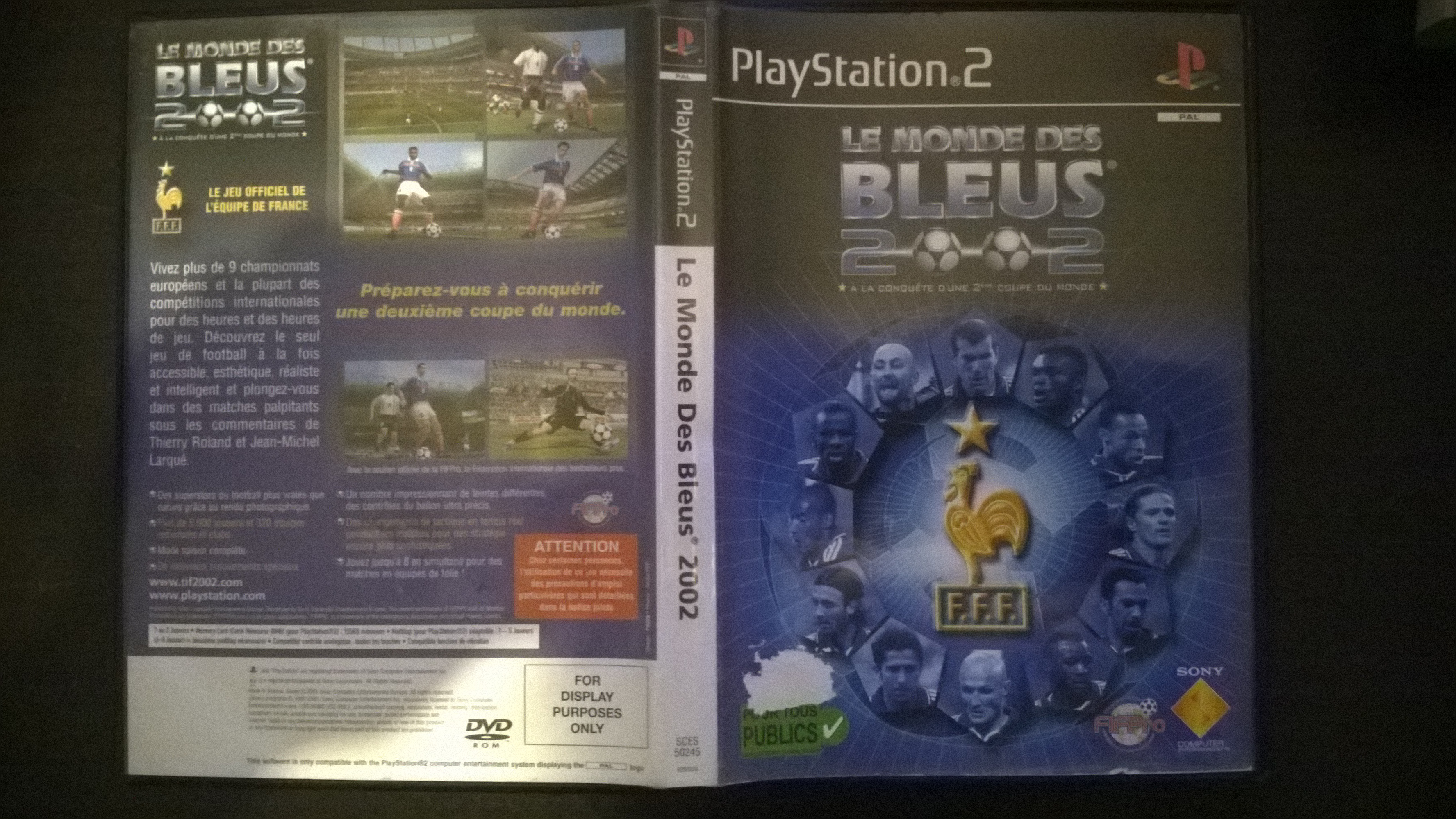 """demande info sur jeux ps2 : """"for display purposes only"""" 580267WP20150309002"""