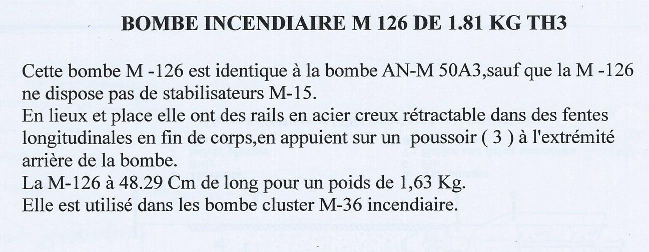 Bombes d'aviation US. 585420incendiaireTH3M126Texte