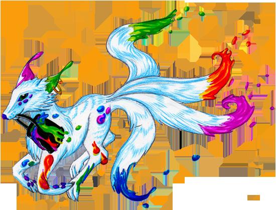 Dragons, chimères et créatures arc-en-ciel 587277loupinceau550