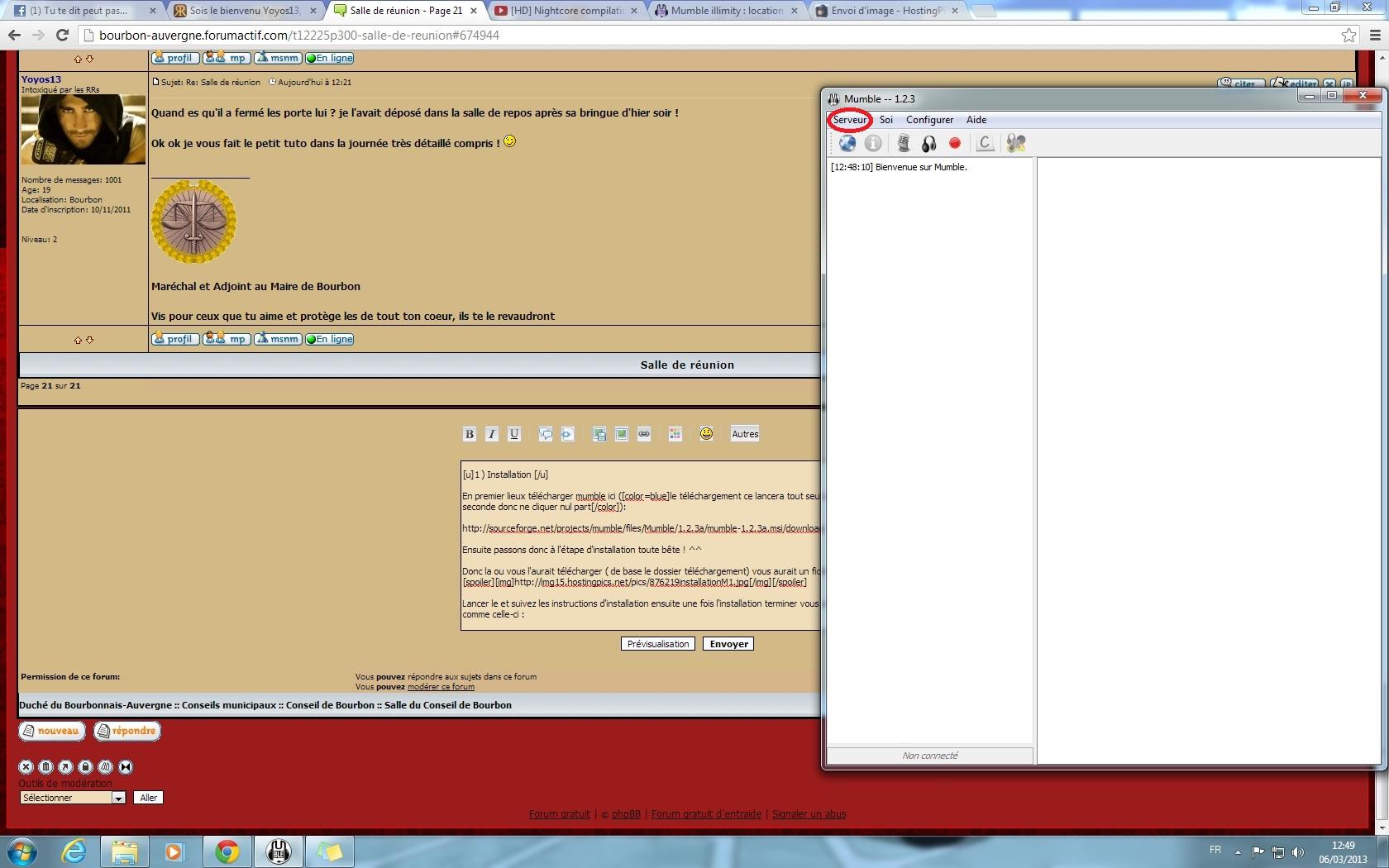 Installer et configurer mumble 589899installationM2