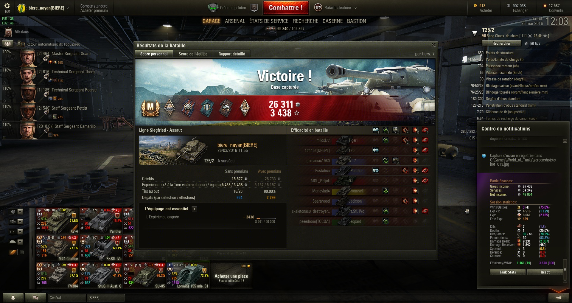 Screenshots et rapports de batailles - Page 3 590524shot014