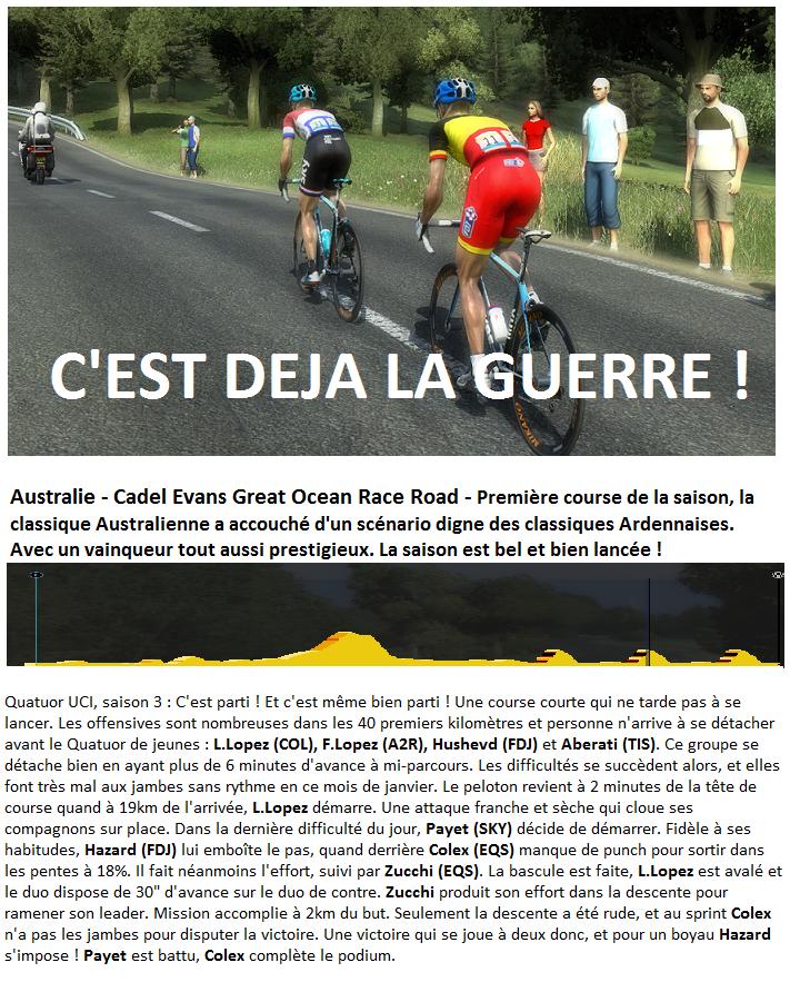 Quatuor UCI - Annonce 590819CEGORR