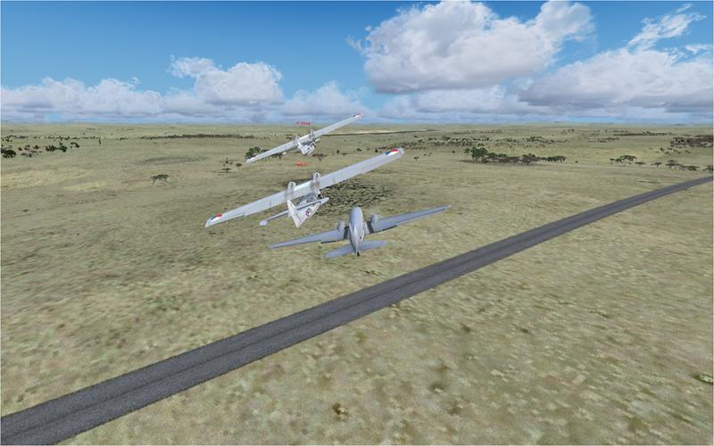 Vol en formation en Afrique (DC3) 5981922013222213858735