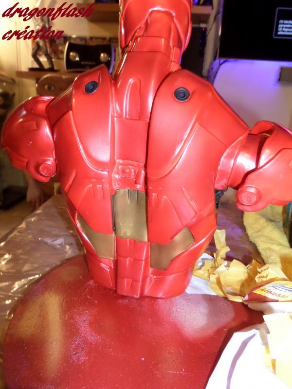 dragonflash création : buste iron man 1/2  (+-40 cm de haut) le final 5997087326