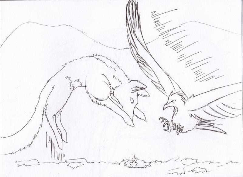 Dragons, chimères et créatures arc-en-ciel - Page 3 613645sketchchocrenardoiseau