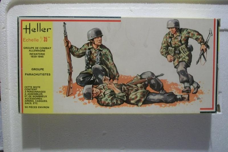 Groupe de Combat Allemand  (réf.117) Groupe Parachutistes 1/35 614502Heller117135GCAGroupeParachutistes001