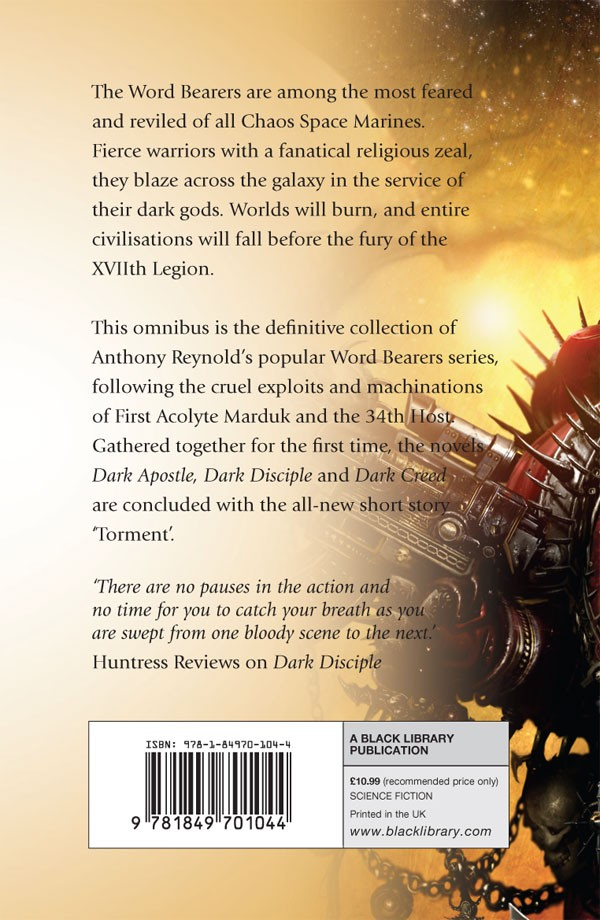 The Word Bearers omnibus d'Anthony Reynolds 614907wordbearersomnibus