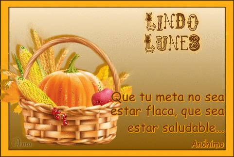 Canasta Saludable con Frase 616827LUNES