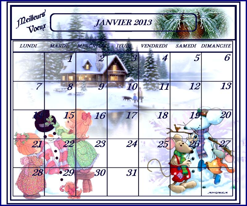 Des Cadeaux pour Noël , jour de l'An etc ...... 618953calendrierjanvier2013angelafonddecran