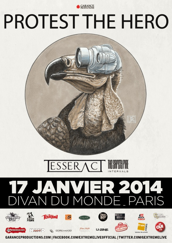 17.01 - Protest The Hero + Tesseract + .. @ Paris 62371720140117ProtestTheHero