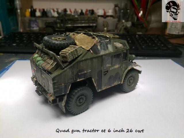 Quad gun tractor et 6 inch 26 CWT en Normandie 1/35 624796IMG4832