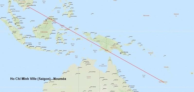Arcachon - Nouméa 625911003TrajetN3
