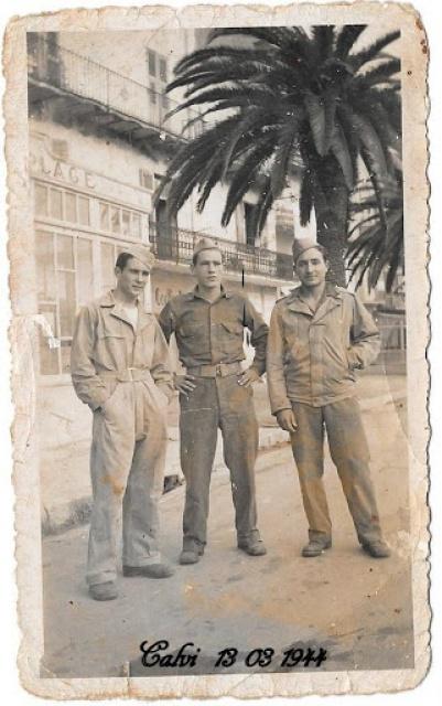 Recherche d'un parent engagé au 1er Bataillon de choc à Staoueli en 1943 :Roger BELLELAGAMBA 631809BellagambaTRIOANGUILAR3x