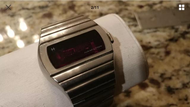 Hamilton QED 1 vintage LED watch 1973 637522B087FD353BE94CF28DB4B845FB7DA31B