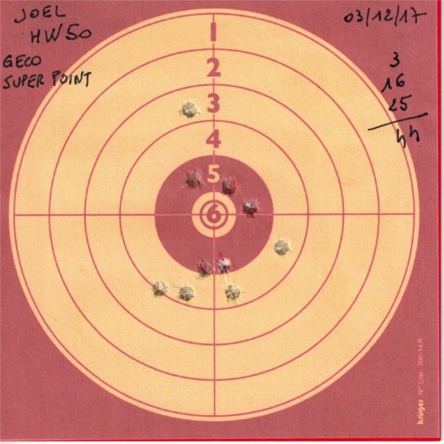 weihrauch - Tests plombs avec carabine Weihrauch HW50S 638614HW50GECOSUPERPOINT