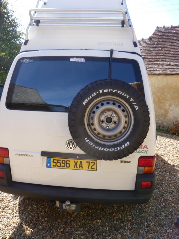 Portes roue de secours, home made  638742P1300431