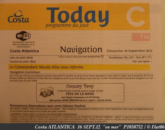 Z06 - COSTA / C/R  Mer Egée et Galilée / Grèce, Crête, Israël, Chypre, Turquie !  13-20/09/2012  639149P1050752