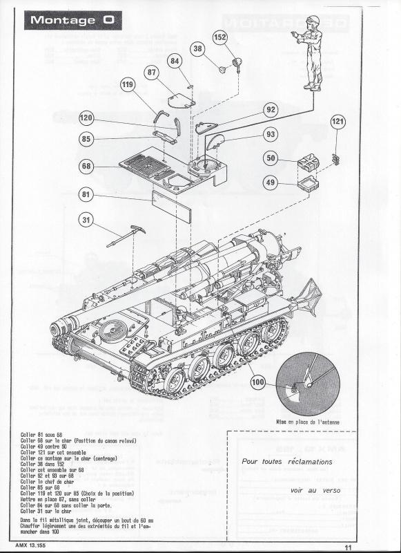 AMX 13 canon de 155 - (Réf. L782) 1/35 644872AMX13155782012Heller135