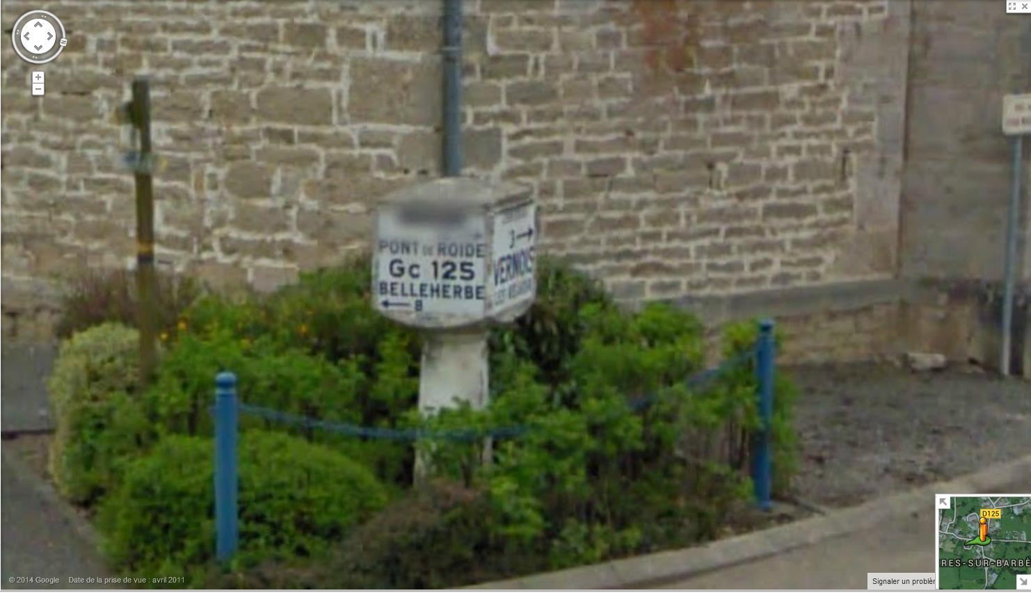 STREET VIEW : les bornes et les plaques Michelin - Page 2 646175bornemichelinbelleherbe