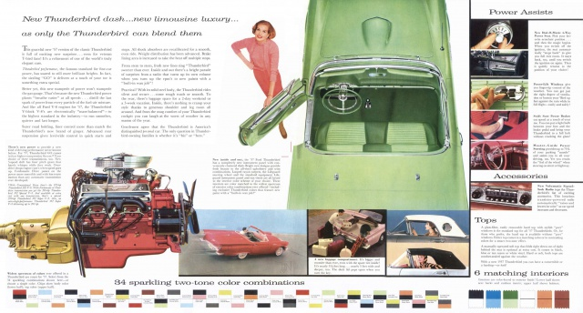 ford thunderbird 1957 au 1/16 648565brochure19571