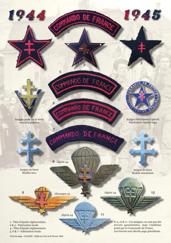 Adjudant pierre Saulnier des commandos de France - Page 2 654106PlancheinsCdodeFrance