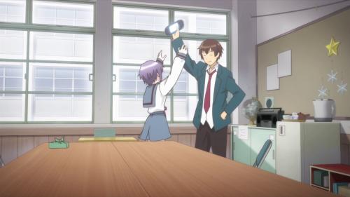 [MANGA/ANIME] Nagato Yuki-chan no Shoushitsu (The Disappearance of Nagato Yuki-chan) ~ 657434vlcsnap2015100517h03m36s13