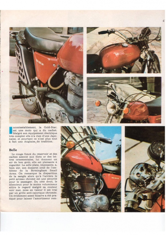 "MOTO cyclisme n°31 - BSA B50SS ""Gold Star"" 658002IncontestablementB50page002"