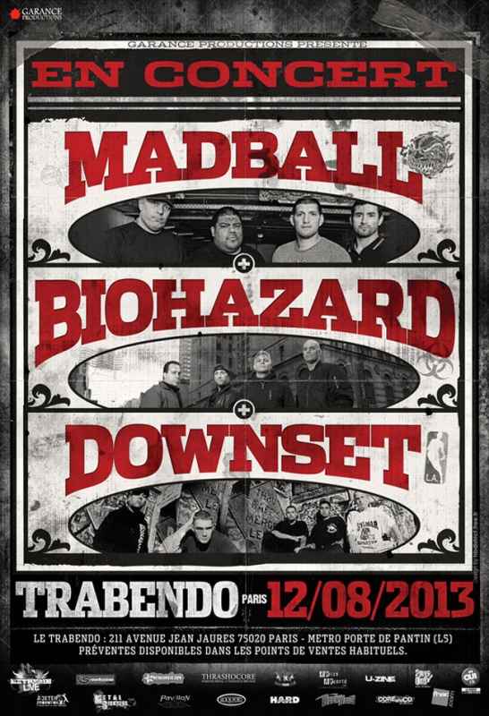 12.08 - Madball + Biohazard + Downset @ Paris, trabendo 65859320130812MadballBiohazardeflyer