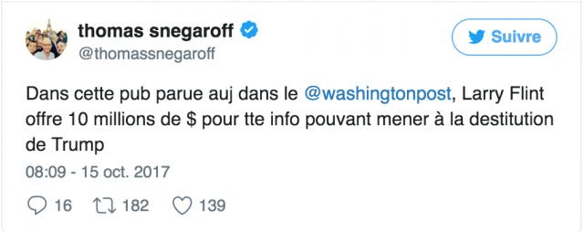 Le roi du porno Larry Flint offre 10 millions de dollars pour destituer Donald Trump 660108twe