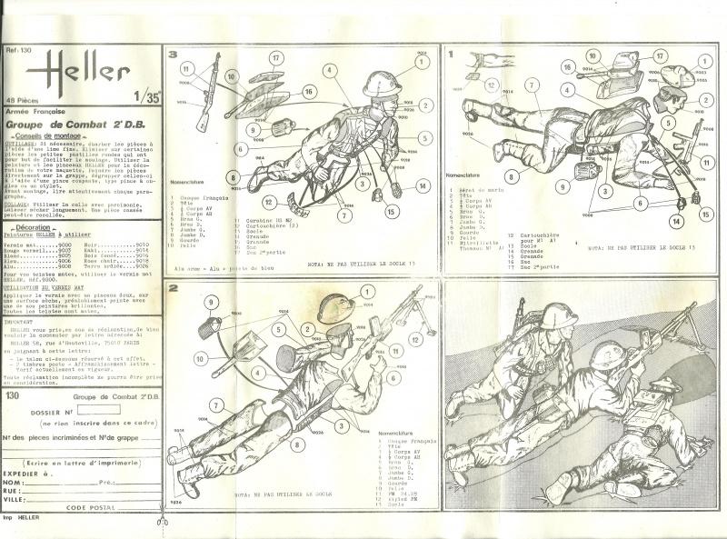 Groupe de Combat Français (réf.130) 2ème DB (2) 1/35 663780Heller130135002GroupedeCombatFrance2DBII