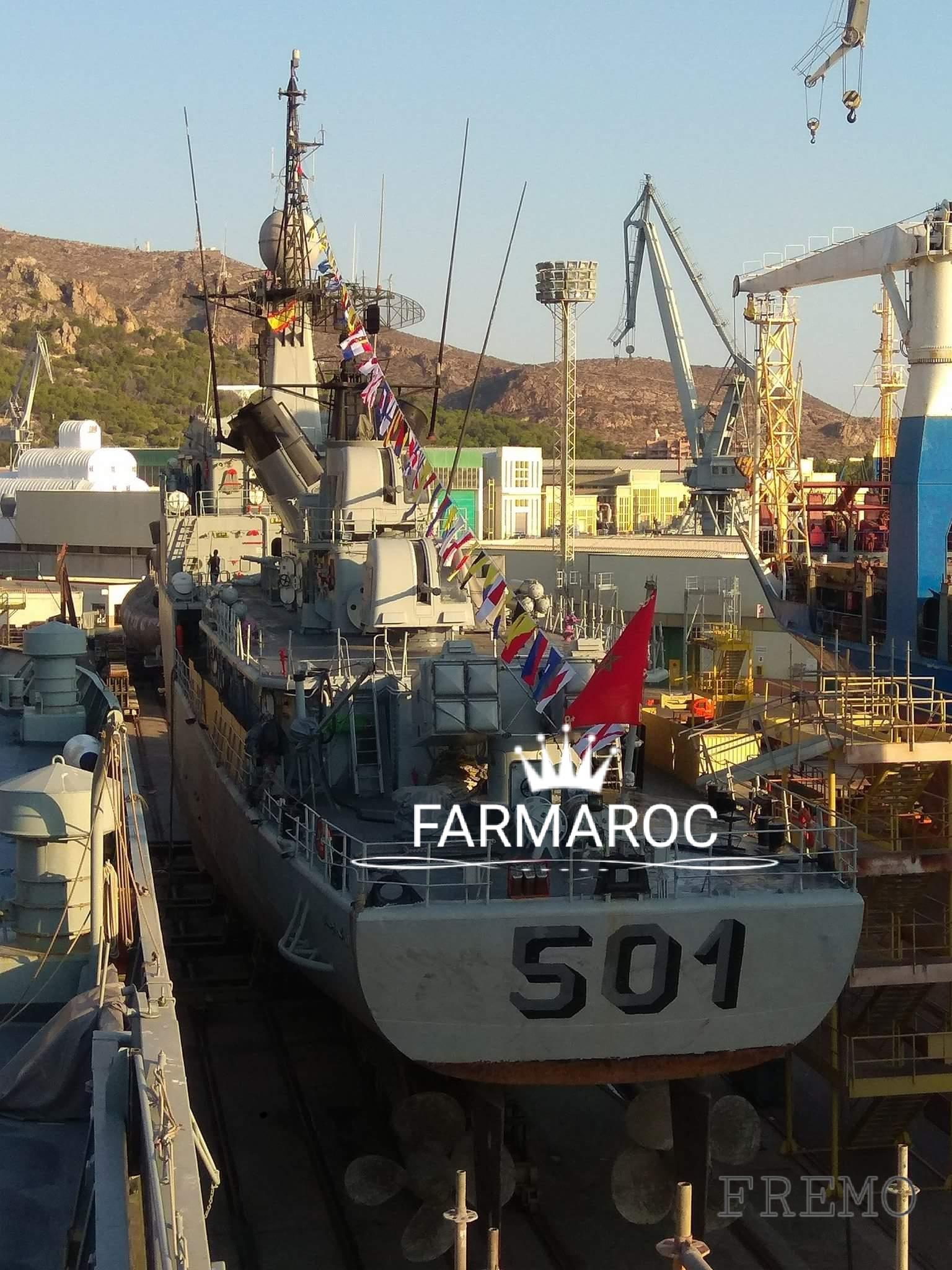 Royal Moroccan Navy Descubierta Frigate / Patrouilleur Océanique Lt Cl Errahmani - Bâtiment École - Page 3 66774720171214232621