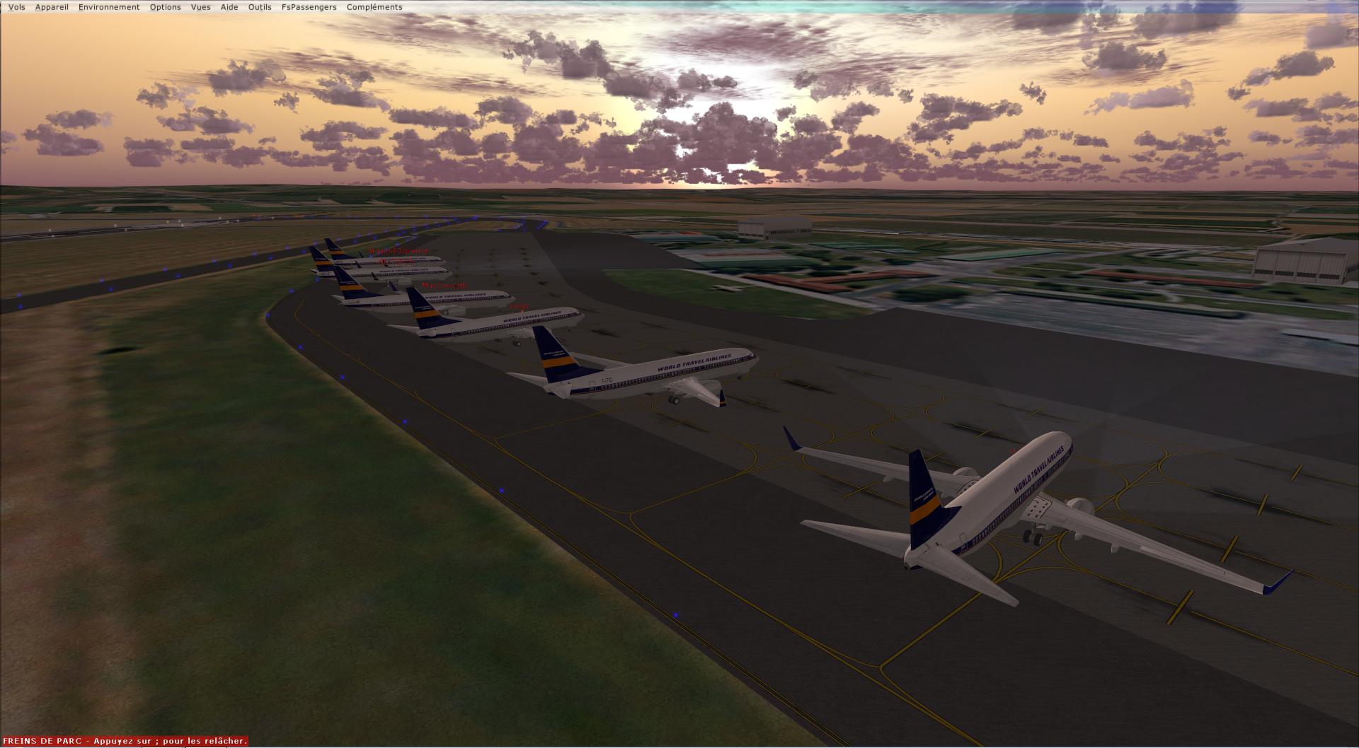 rapport du vol en formation en  737 de LEMD -----LFBG 66909020141119223937137
