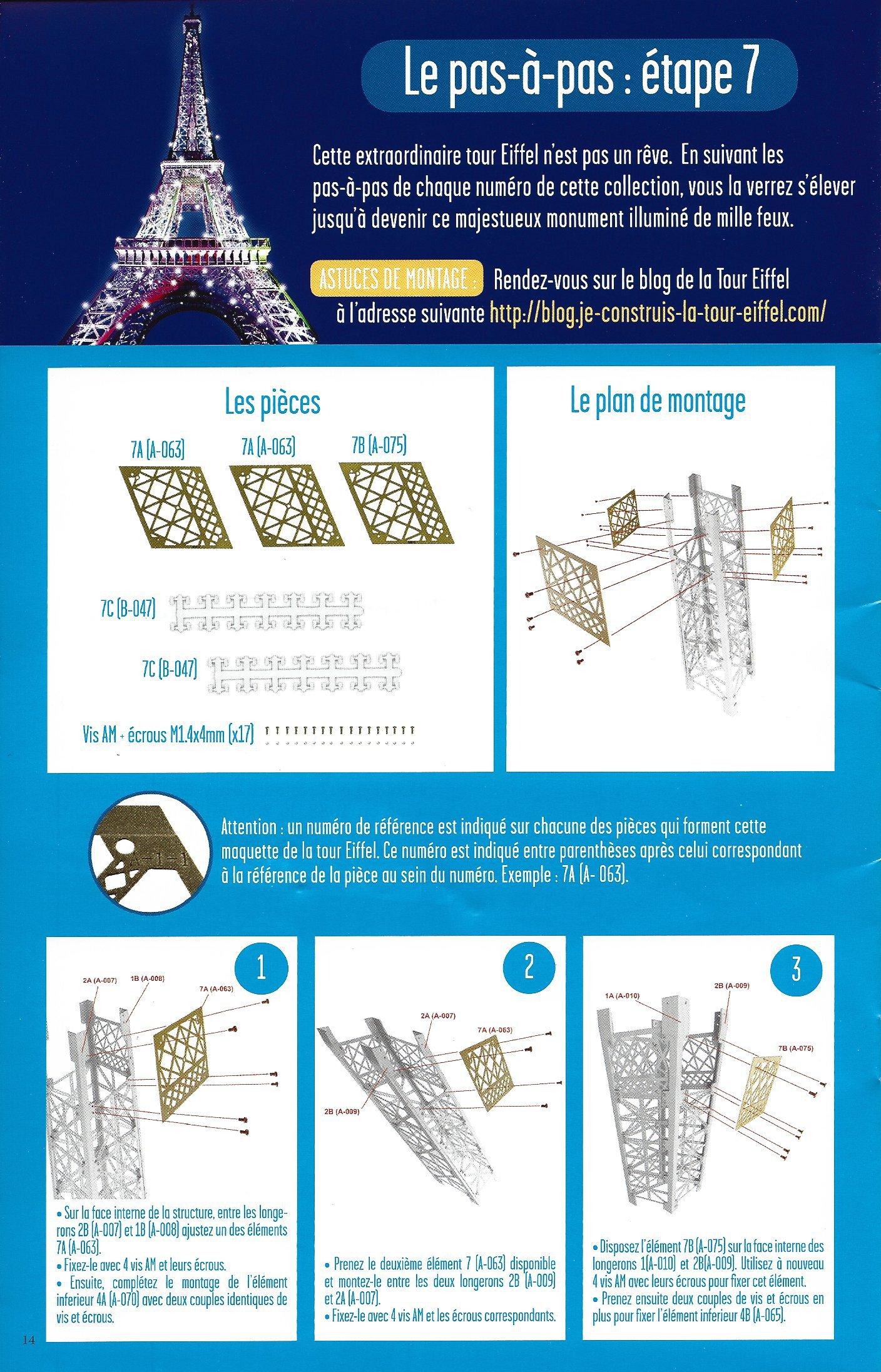 Numéro 7 - Je construis la Tour Eiffel - La Tour en chiffres 67163407b