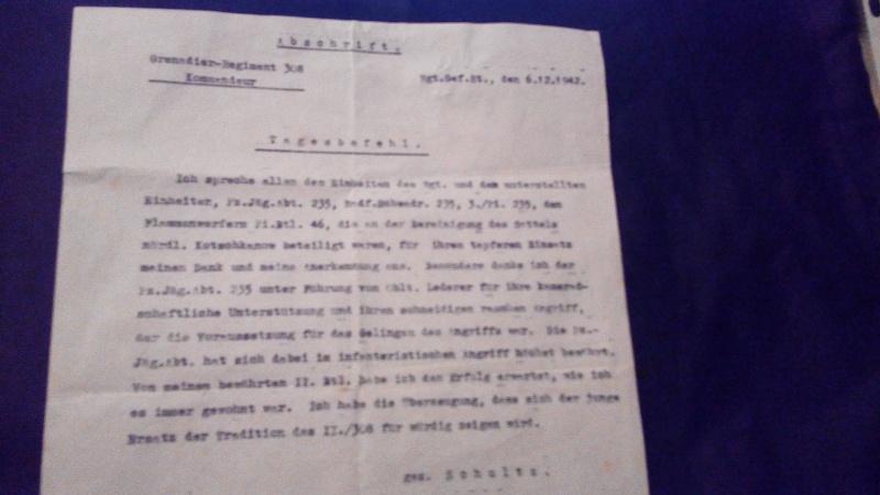 1° document identification/traduction papier du grenadier regiment 308  679254IMG20170123214026