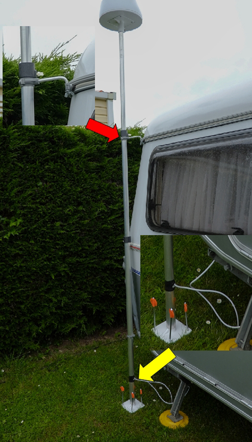 mâts d'antenne, exemples de fixation sur nos cagouilles 686152Antenne2