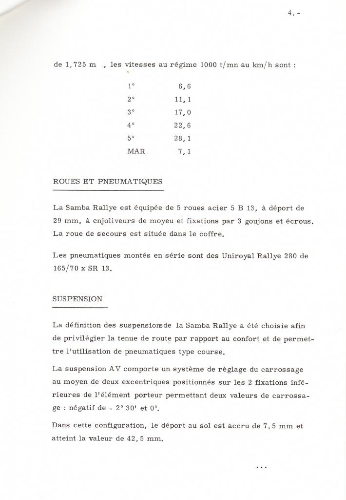 Dossier de presse Talbot Samba Rallye (septembre 1982) 687604a0007