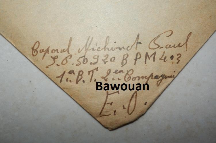 Lot correspondances Caporal infirmier de Tirailleurs 1948-50  694951P6170344