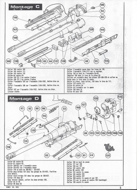 AMX 13 canon de 155 - (Réf. L782) 1/35 695351AMX13155782006Heller135