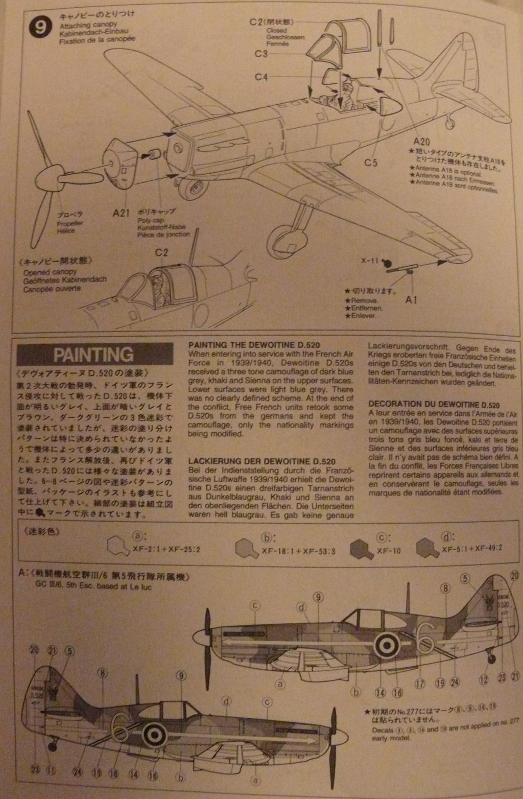 Dewoitine D.520 édition spéciale 1/48 Tamiya 695667D52008