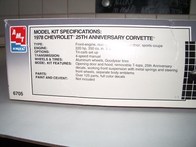 chevrolet corvette 25 th anniversary de 1978 au 1/16 - Page 3 696403IMGP8802