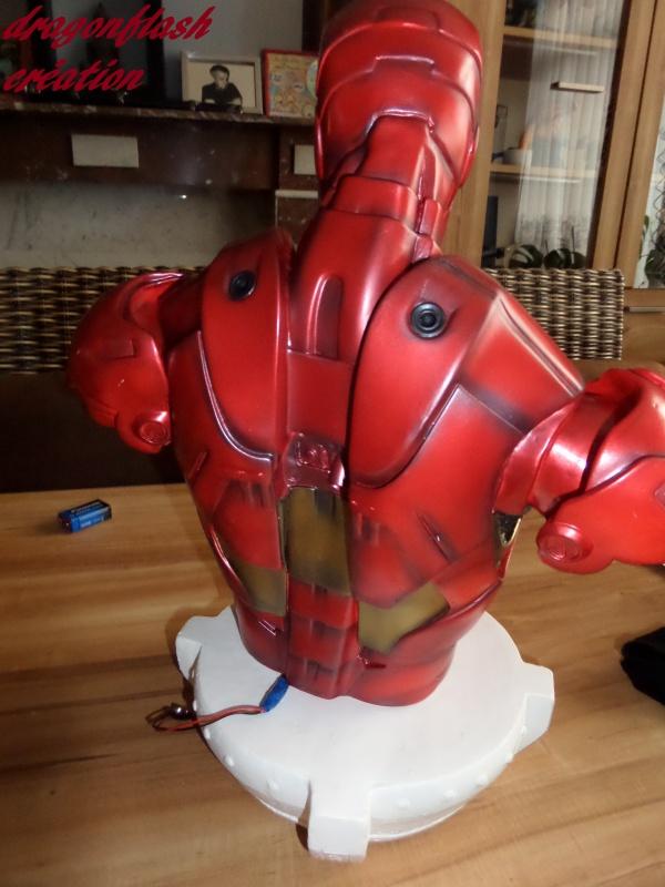 dragonflash création : buste iron man 1/2  (+-40 cm de haut) le final 6974831527