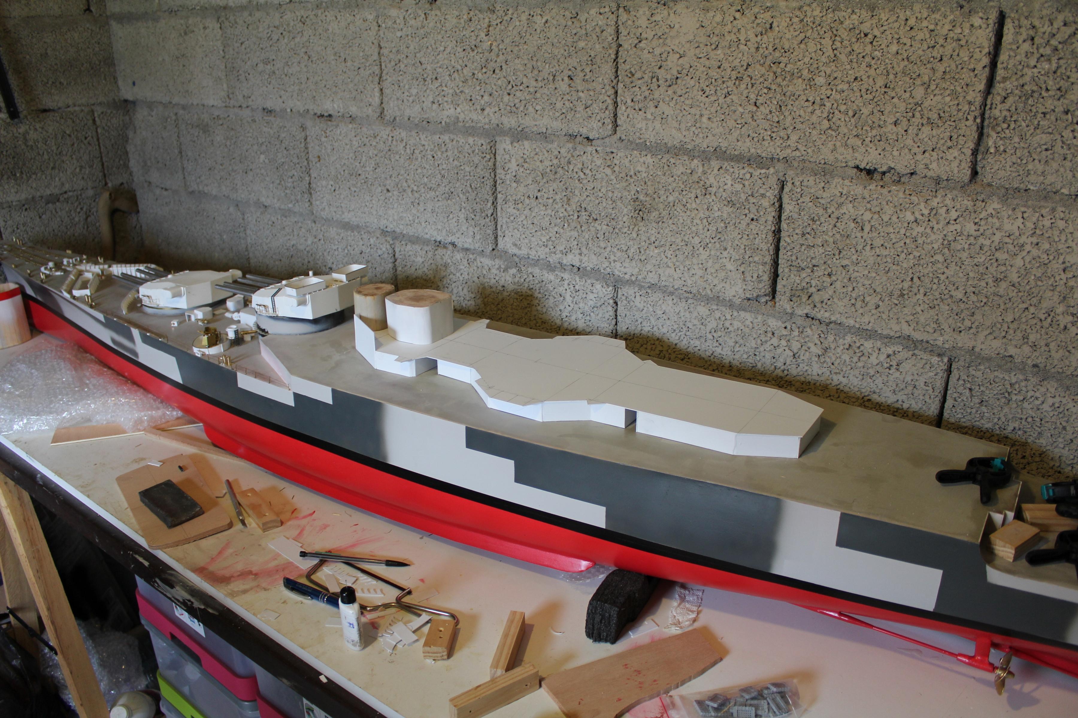 Cuirassé Richelieu 1/100 Vrsion 1943 sur plans Polonais et Sarnet + Dumas 698149IMG05953600x2400