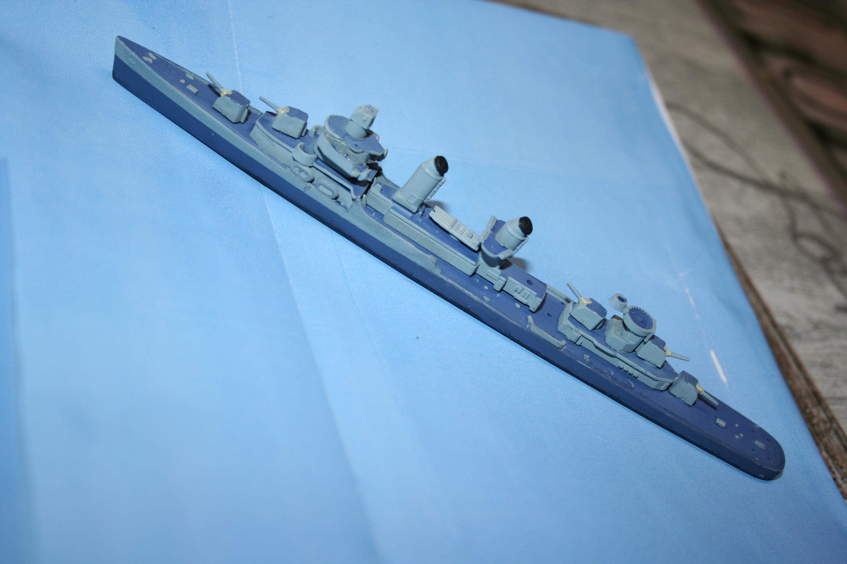 """USS Fletcher """"Revell"""" 1/700 698555IMG3645"""