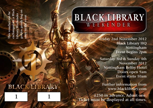 News de la Black Library (France et UK) - 2012 699052ticket2012weekendergold