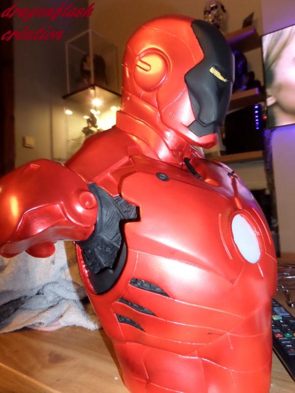 dragonflash création : buste iron man 1/2  (+-40 cm de haut) le final 7000109219