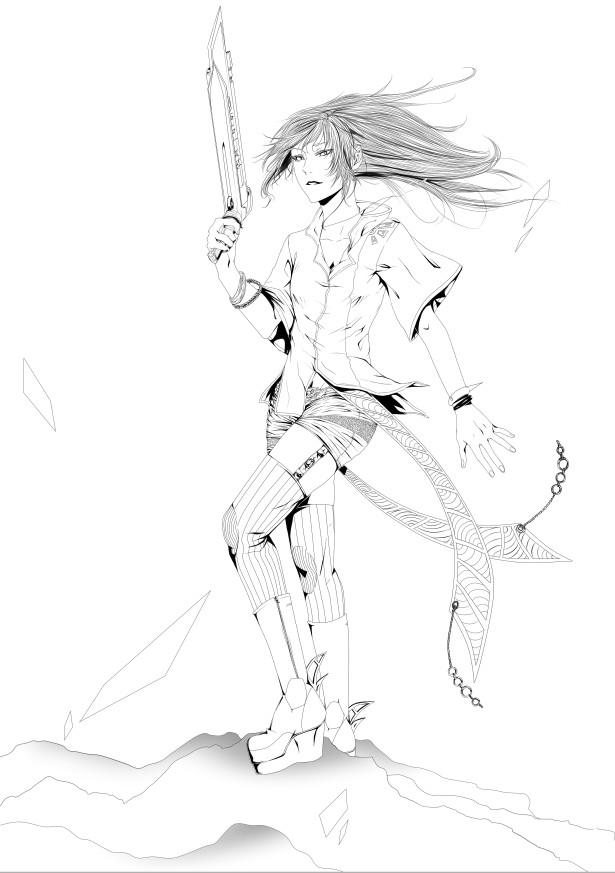 Vectoriel - [Tutoriel] Le calque vectoriel sous Paint tool Sai [Dreamy] 7027371614