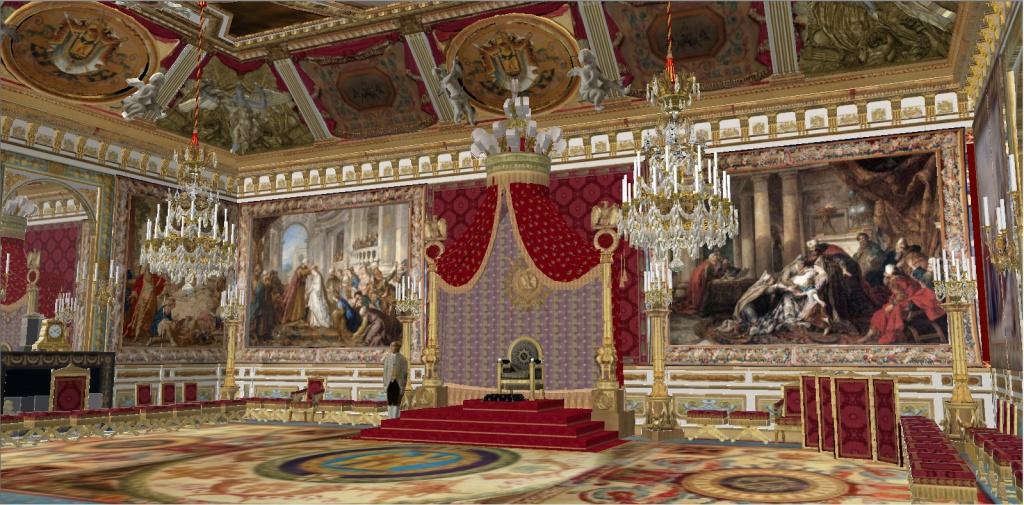 Reconstitution virtuelle du Palais des Tuileries, états Premier Empire et Second Empire 704388salledutrone