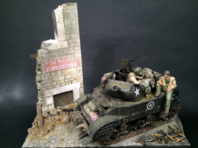 """Le laxatif"" - M8 Howitzer unité ""Hell on Wheels"" - 2nd Armored division, Normandie - Tamiya 1/35 709394IMG3482"