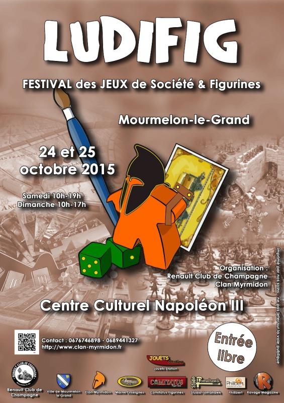 Ludifig 2015 du Clan Myrmidon les 24 et 25 octobre à Mourmelon-le-grand. 712311Affiche10web